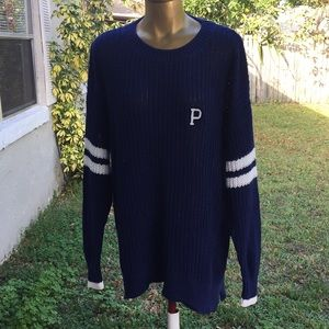 Pink chunky knit sweater Blue New with Tags